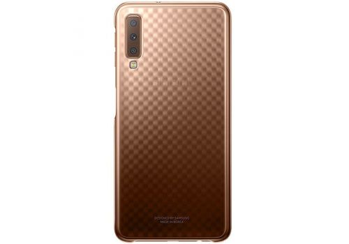 Cover, Samsung Gradation Cover Galaxy A7 (2018), Gold, image 1