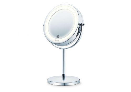 Beurer BS 55 Illuminated mirror, touch sensor, 18 LED light, 7 x zoom, 2 swivering mirrors, 13 cm, image 1