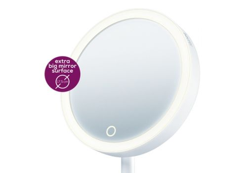 Beurer BS 45 illuminated cosmetics mirror,LED light, Touch sensor, 5x magnification,dimmer function,storage tray, image 2