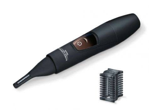Beurer HR 2000 precision trimmer, For shaping and trimming eyebrows, nose and ear hairs, vertical stainless steel blade, comb attachment with 3/6 mm, Battery-powered, Incl. protective cap, cleaning brush and storage bag,Water-resistant, image 1