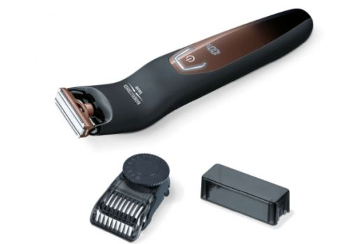 Beurer HR 6000 body groomer,Double-sided shaving blade and rotating attachment with 13 different trim lengths for the body and face,quick-charge function, LED display, Water-resistant, image 2